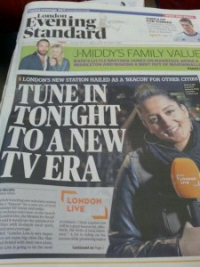 London Live promoted in Evening Standard